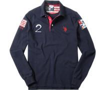 Polo-Shirt Baumwoll-Jersey marine