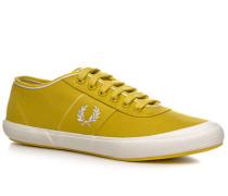 Schuhe Sneaker Baumwolle ockergelb