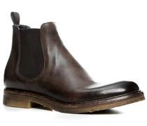 Schuhe Chelsea Boots, Kalbleder glatt, testa di moro