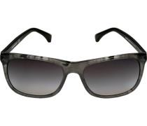 Brillen Sonnenbrille Metall-Kunststoff -schwarz marmoriert
