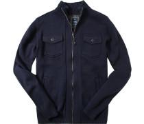 Cardigan Bunnik Baumwolle dunkelblau
