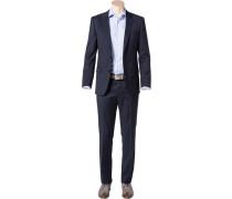 Herren Anzug Slim Fit Schurwolle Super120 GUABELLO dunkelblau