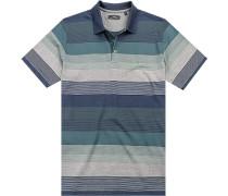 Polo-Shirt Polo, Baumwolle, -blau gestreift