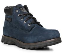 Schuhe Schnürstiefeletten Leder blau