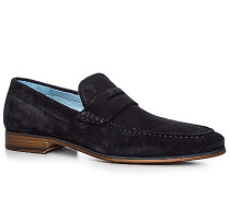 Schuhe Loafer Veloursleder navy