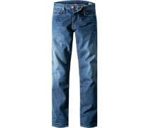Blue-Jeans Modern Fit Baumwolle jeansblau