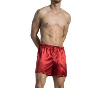 Herren Unterwäsche Boxershorts Seide rot