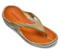 Schuhe BEACH, Gummi, gelb-orange gestreift