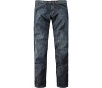 Jeans Slim Fit Baumwoll-Stretch mittelblau