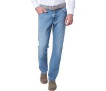 Herren Blue-Jeans Modern Fit Baumwoll-Stretch hellblau