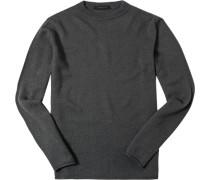 Pullover Schurwolle anthrazit