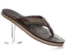 Schuhe Zehensandalen Gummi-Leder dunkelbraun
