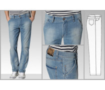 Herren Jeans 'Dolf' Modern Fit Hybridenim bleached blau