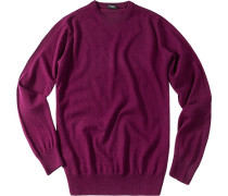 Herren Pullover Kaschmir purpur rosa