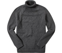 Pullover, Baumwolle, dunkelgrau meliert