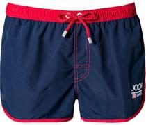 Herren Bademode Athletic-Shorts Microfaser Marine rot