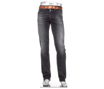Jeans Pipe Regular Slim Fit Baumwoll-Stretch T400® anthrazit