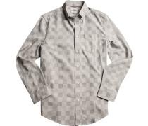 Hemd Regular Fit Baumwolle nachtblau-off white kariert