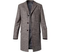 Mantel Schurwolle -grau gemustert
