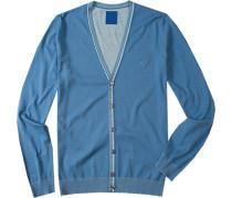 Cardigan Baumwolle himmelblau