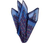 Herren Accessoires  Einstecktuch Baumwolle-Seide blau gemustert