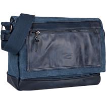 Herren Tasche  Umhängetasche Canvas-Mix blau