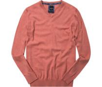 Pullover Baumwolle lachs meliert