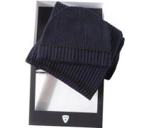 strellson Mütze+Schal Wolle navy