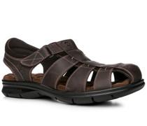 Schuhe Sandalen Nappaleder dunkelbraun