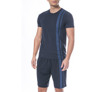 T-Shirt Baumwolle-Modal dunkelblau