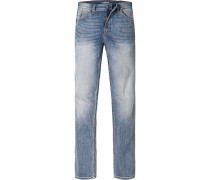 Herren Blue-Jeans Slim Fit Baumwoll-Stretch blau