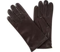 Handschuhe Haarschaf-Nappaleder Scotchgard Strickfutter mocca