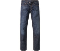 Jeans, Regular Fit, Baumwoll-Stretch, dunkelblau