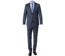 Anzug Modern Fit Wolle rauchblau meliert