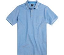 Polo-Shirt Polo Modern Fit Baumwoll-Piqué hellblau