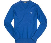 Pullover Pulli Baumwolle königsblau