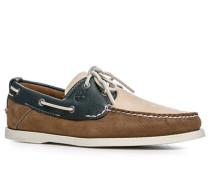 Herren Bootsschuhe Nubukleder braun-marine blau,braun