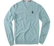 Pullover Baumwolle rauchblau