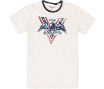 T-Shirt, Baumwolle, creme