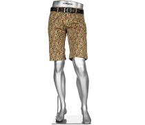 Hose Bermudashorts Lou-K-J Regular Slim Fit Baumwolle -rot floral