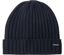 Herren   Mütze Kaschmir nachtblau