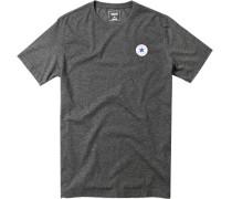 T-Shirt Classic Fit Baumwolle anthrazit meliert