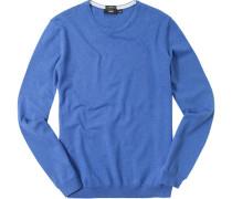 Pullover Slim Fit Baumwolle hellblau