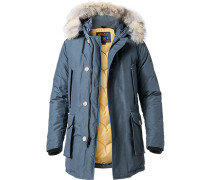 Jacke Arctic-Parka Baumwolle-Nylon Echtpelz rauchblau
