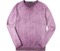 Pullover Baumwolle himbeere meliert