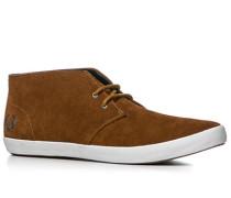 Herren Schuhe Desert Boots Veloursleder mittelbraun