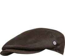Sportmütze Leder dunkelbraun