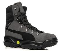 Schuhe Schnürstiefeletten Leder-Textil GORE-TEX® warm gefüttert -schwarz