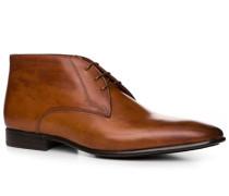 Schuhe Schnürstiefeletten Leder cuoio