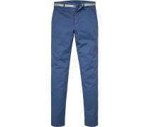 Hose Chino, Extra Slim Fit, Baumwolle, königsblau